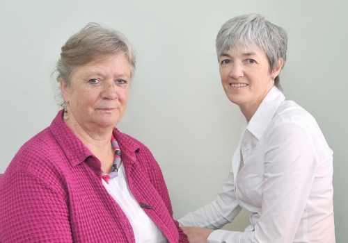Loretta McDonagh (right), Acting Director of Services at Mayo Rape Crisis Centre, is pictured with Ruth McNeely, who retired as Director of Services last year. Pic: Conor McKeown